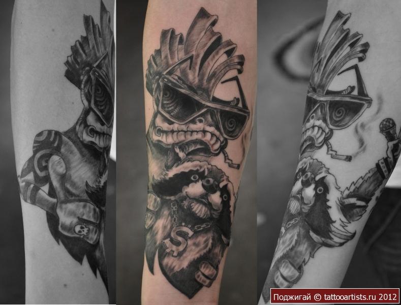 Татуировка енот