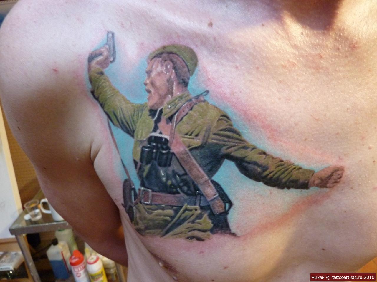 Фото тату великая отечественная война