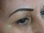 Перманентный макияж бровей. Женщине 59 лет