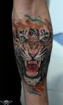 зажившая татуировка