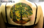wood tattoo